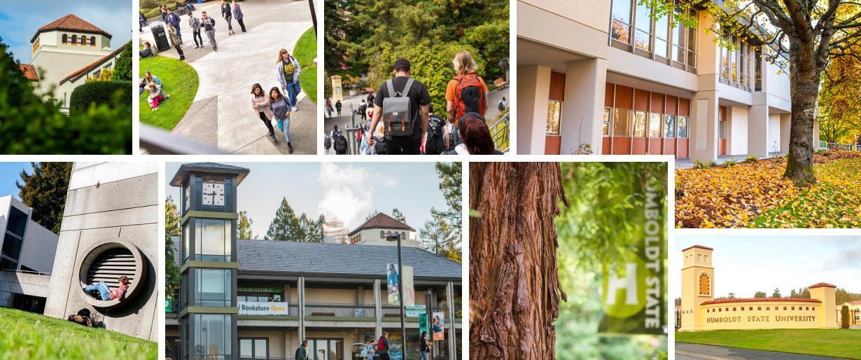 Grid of campus photos